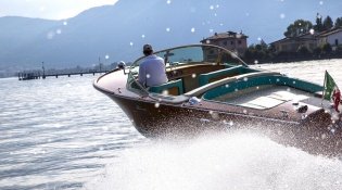 Romano Bellini's private collection of Vintage Riva boats